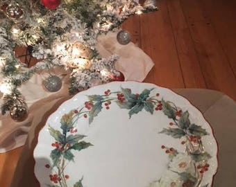 Hand painted Holiday plate