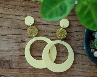 Large Retro Circle Earrings