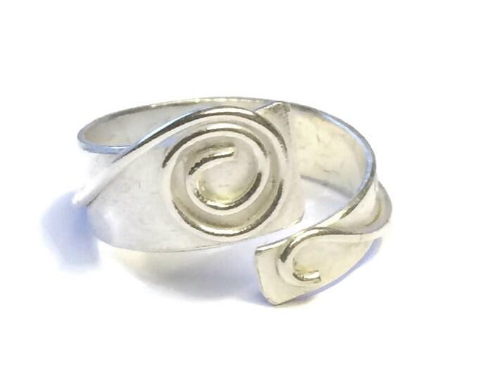Adjustable Aztec Overlay Ring
