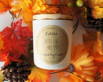 COFFEE CAKE & SPICE /Handpoured Scented Soy Candle