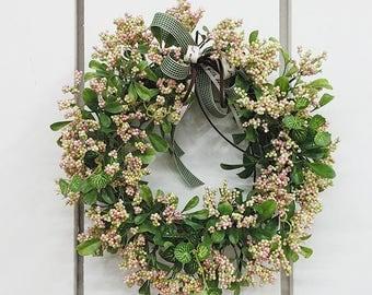 Artificial Berry Wreath, Door Wreath, Front door Wreath, Beautiful Wreath for Door, Wedding Wreath, Front door decor