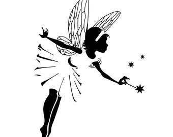 Fairy Magic Star Graphics SVG Dxf EPS Png Cdr Ai Pdf Vector Art Clipart instant download Digital Cut Print File Cricut Silhouette