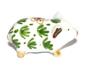Small Pig Figure. Ceramic Pig Figure. Ceramic Pig. Talisman. Spirit Animal. Totem. Pig Figure. Chinese Zodiac. Good Luck Pig. Talisman. Pig