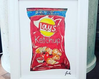 9x12 Ketchup Chips