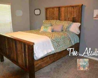 pallet bedroom furniture. The Alana Rustic Pallet Bed bed  Etsy