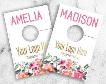 Boutique Style Name Hanger Tags // Rack Dividers // Hangers // Hanger Rack // Rack tags // Hanger Dividers