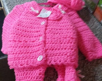 Pink sweater set | Etsy