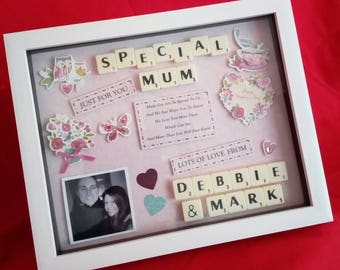 MOTHERS DAY SPECIAL Mum Personalised Frame Keepsake Gift