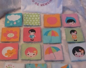 Memory game in fabric