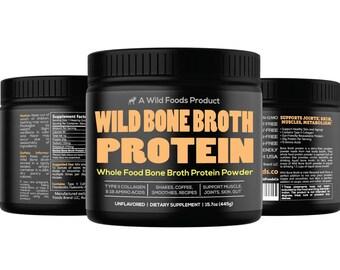 Wild Bone Broth Protein | Gut-Friendly, Non-GMO, Dairy-Free Protein Powder