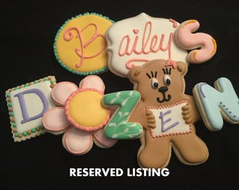Baby rattles - Baby shower favors- Custom decorated cookies- pink and blue rattles
