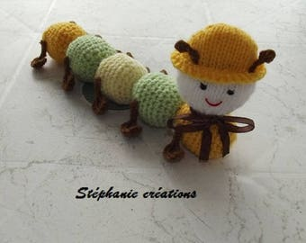 Doudou thousand feet handmade colors yellow, green and Brown