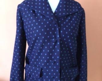 50s Blazer blue with light blue pattern