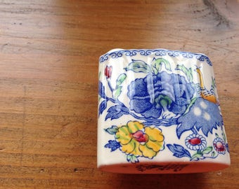 Masons 1920s Ironstone Toothpick Holder in Regency design