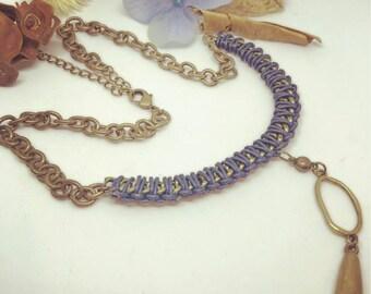 Blue Bronze Necklace
