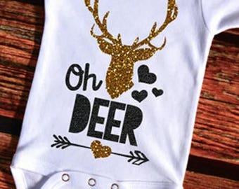 Infant Onsie 0-3 months Oh Deer