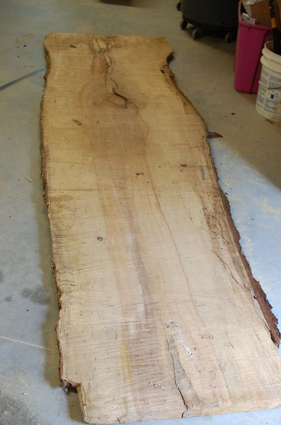 Pecan Wood Slab Natural Live Edge Table Live Edge Table