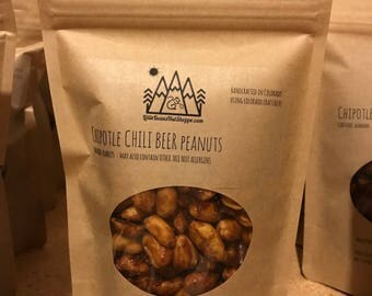 Chipotle Chili Beer Peanuts/Roasted/Glazed/Colorado Craft Beer