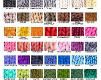 Merino Blanket - Giant Blanket - Throw Blanket - Arm Knitting Blanket - Thick Blanket - Merino Yarn Blanket - Large Blanket - Knitted plaid