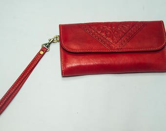 Moroccan leather purse