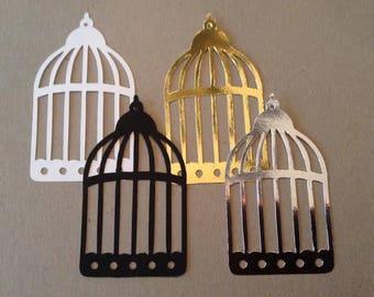 Birdcage (3)paper die cut embellishment