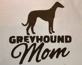 Custom grehound mom decals
