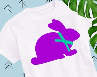 Bunny svg Easter svg Easter bunny svg with bow Easter bunny svg rabbit svg happy easter svg file for Cricut Silhouette easter cut file e