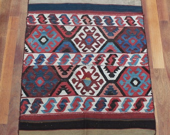 Antique Turkish Kilim Antique Rug 1900's