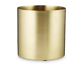 Golden Brass Pot by H. Skjalm P. - 10 cm, 18 cm