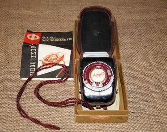 Camera Light meter Selenium light meter Exposure meter Leningrad USSR light meter Old light meter Leningrad 2 USSR Soviet light meter