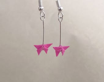Miniature Origami Butterfly Earrings-Origami Jewellery-Paper Jewellery-Origami Earrings-Dangle& Drop earrings-Valentine's Day