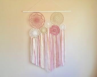 Wall decor, dreamcatcher wall hanging, boho dreamcatcher, nursery wall decor