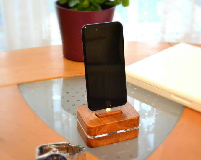 iphone ipad charging station docking station stand wooden station, iphone 5, 6, 7, 8