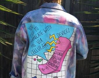 Patch Dye Denim Jacket