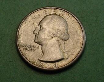 Washington  Quarter 1934 AU<> # ET3883