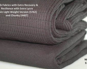 Neotrims Light Weight Plain Stretch Lycra Knit Rib Trimming Fabric. Resilient Durable Knit Ribbed Material or for other purposes. Durable