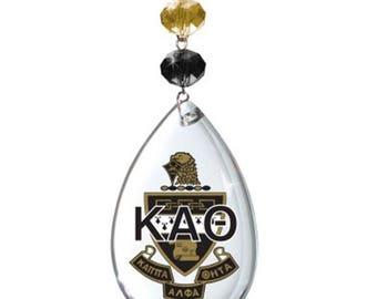 KAT Logo Crystal - Crest- Kappa Alpha Theta Sorority MAGNETIC ORNAMENT/Kat Decor/Kat Ornament/Kappa Alpha Theta Dorm Room