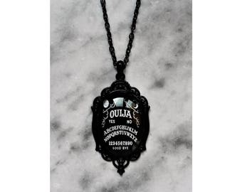 necklace black ouija board cameo gothic occult pagan esoteric spiritism wicca magic witch witchcraft witchy dark