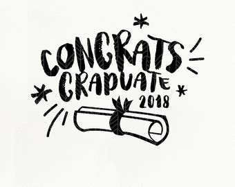 Congrats Graduate SVG Files, Graduation 2018 dxf, png, eps for Silhouette Studio & Cricut, Cut File