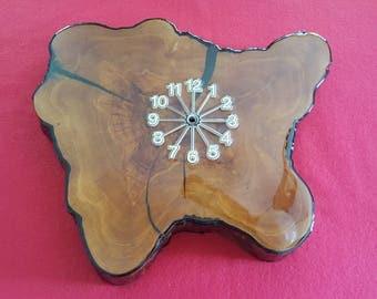 Cypress Wood Clock