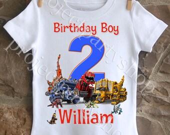Dinotrux Birthday Shirt, Boys Dinotrux Shirt