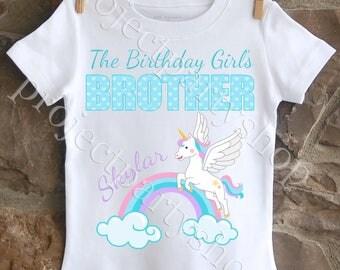Unicorn Brother Shirt, Unicorn Birthday Shirt