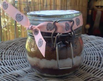 Cake in a Jar Chocolate Brownies