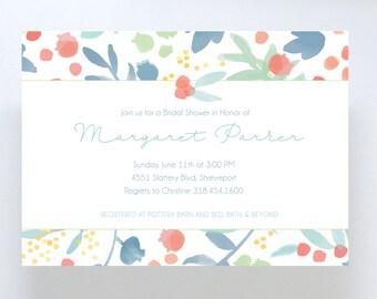 Floral Bridal Shower Invitation // Birthday Party // Baby Shower Invite