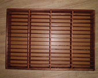 Cassette shelf wooden 60 subjects