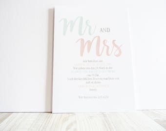 Wedding Card - pastel