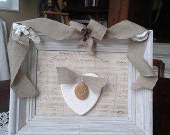 frame repaints upcycled shabby chic romantic