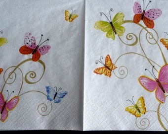 Butterfly paper napkin