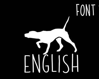 English Pointer Personalized Dog Decal, English Pointer Decal, Bird Dog Decal, Dog Decal, Hunting Dog