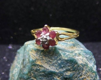Vintage 10 KT Gold And Ruby Ring, size 6.5